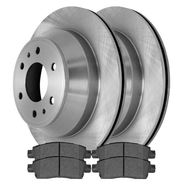 Rear Semi Metallic Brake Pad and Rotor Bundle - Part # RSMK65075-65075-883-2-4