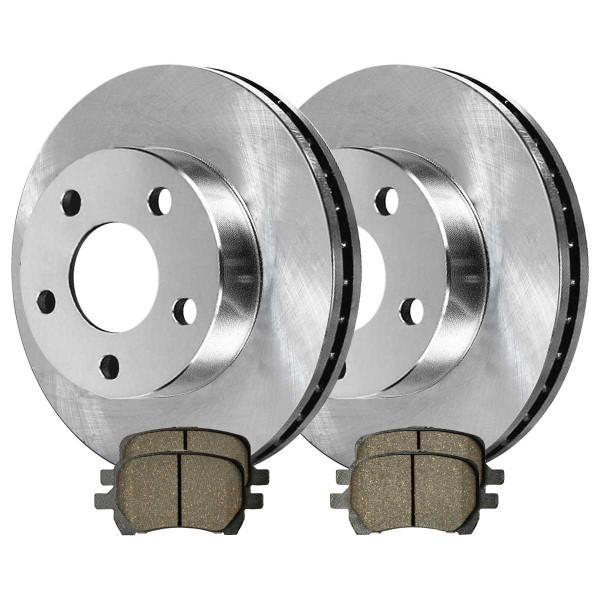 Front Semi Metallic Brake Pad and Rotor Bundle 296mm Rotor Diameter - Part # RSMK65095-65095-1160-2-4