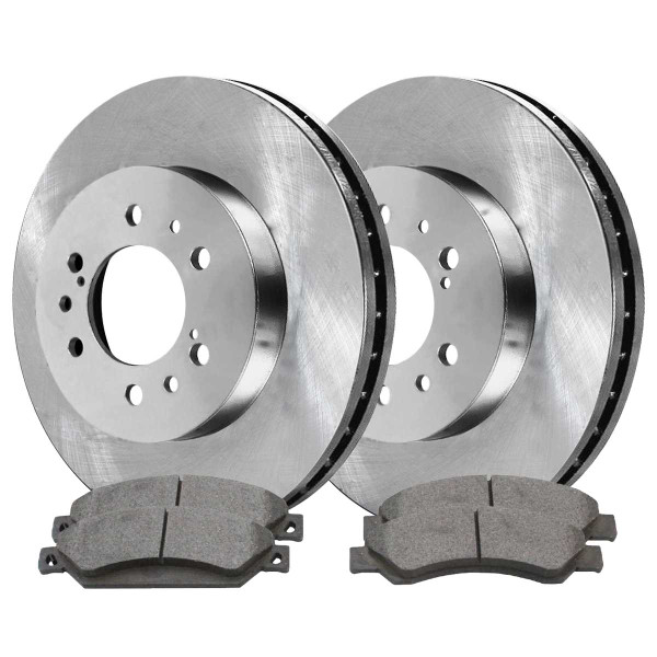 Front Semi Metallic Brake Pad and Rotor Bundle - Part # RSMK65099-65099-1092-2-4