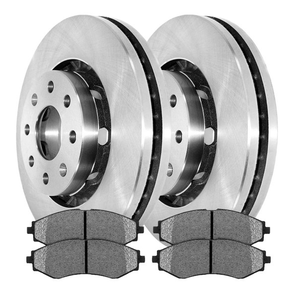 Front Semi Metallic Brake Pad and Rotor Bundle - Part # RSMK65101-65101-797-2-4