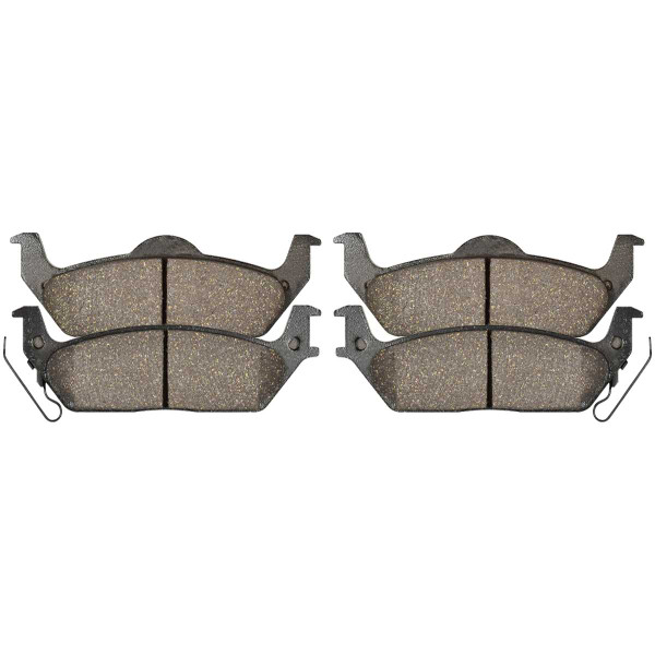 Rear Ceramic Brake Pad Set - Part # SCD1012