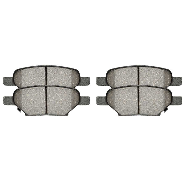 Rear Ceramic Brake Pad Set 4 Wheel Disc - Part # SCD1033