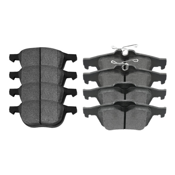 Front and Rear Ceramic Brake Pad Bundle 4 Wheel Disc - Part # SCD1044-1095