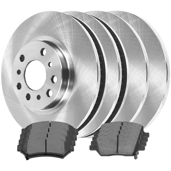 Front and Rear Ceramic Brake Pad and Rotor Bundle - Part # SCD10751333