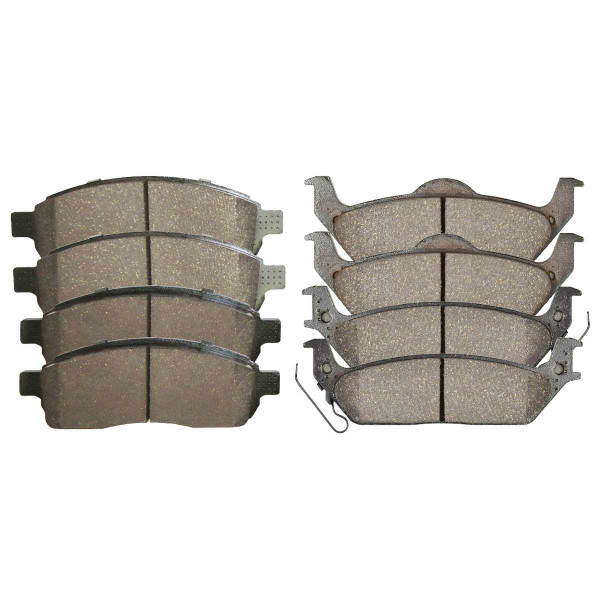 Front and Rear Ceramic Brake Pad Bundle - Part # SCD1083-1012