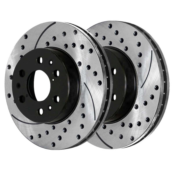 Front Rear Drilled Slotted Brake Rotors Ceramic Pads Kit for 2007-2014 GMC Yukon - Part # SCD1092PR65099
