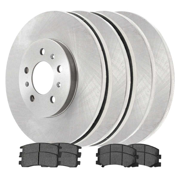 Front and Rear Ceramic Brake Pad and Rotor Bundle - Part # SCD11594516