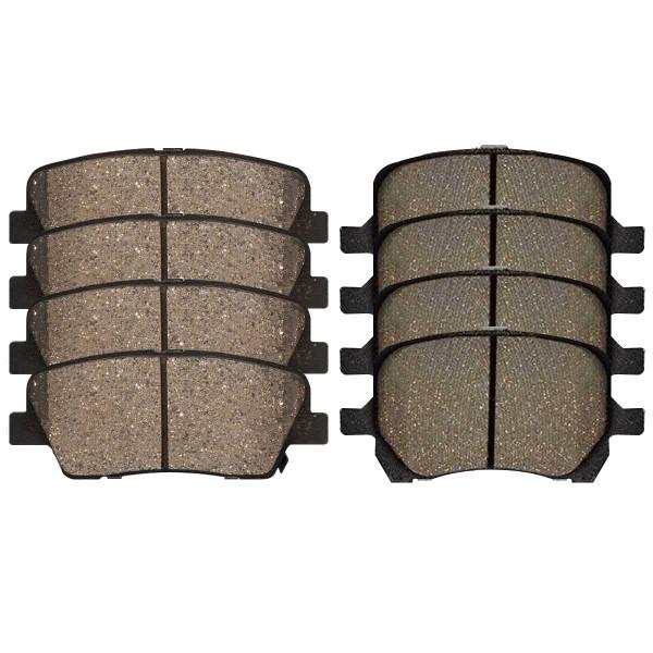 Front and Rear Ceramic Brake Pad Bundle 4 Wheel Disc - Part # SCD1160-1033
