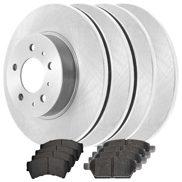 Front and Rear Ceramic Brake Pad and Rotor Bundle - Part # SCD11642055