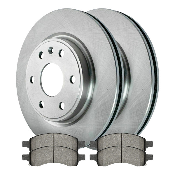 Front Ceramic Brake Pad and Rotor Bundle - Part # SCD1169-R65152