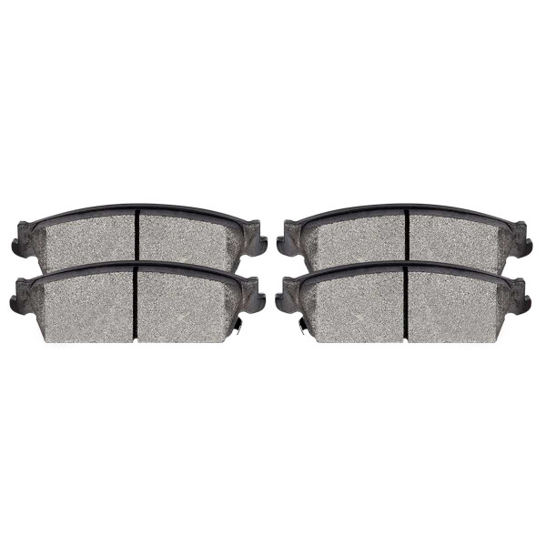 Rear Ceramic Brake Pad Set 4 Wheel Disc - Part # SCD1194