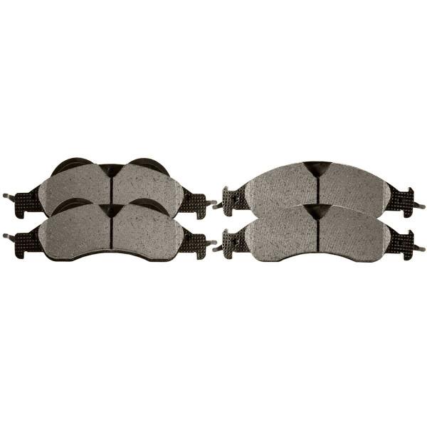 Front Ceramic Brake Pad Set - Part # SCD1278