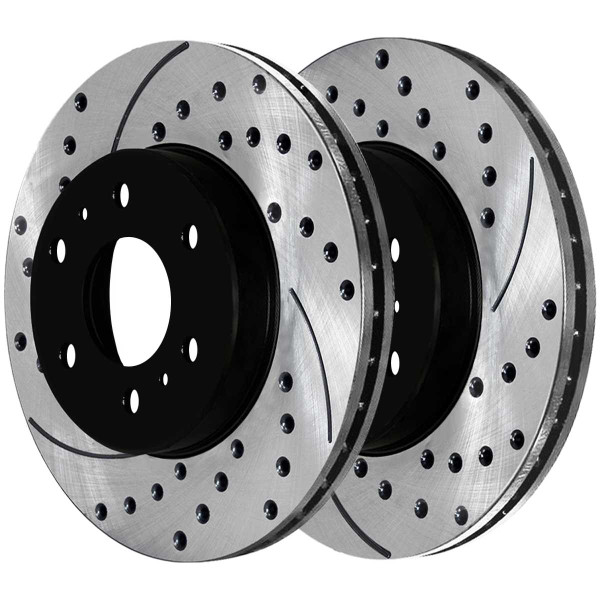 Front Ceramic Brake Pad and Performance Rotor Bundle 6 Stud - Part # SCD1414-PR64155