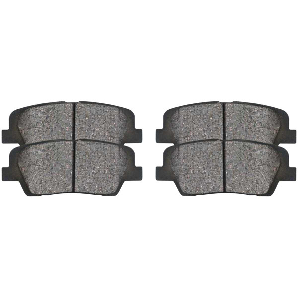 Rear Ceramic Brake Pad Set - Part # SCD1439
