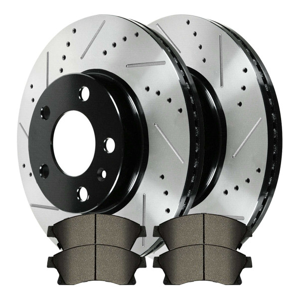 Front Ceramic Brake Pad and Performance Rotor Bundle - Part # SCD1522PR65187LR