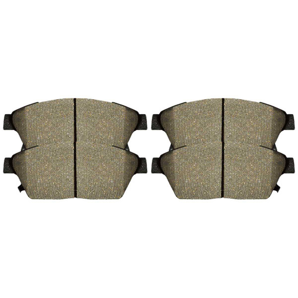 Front Ceramic Brake Pad Set - Part # SCD1522