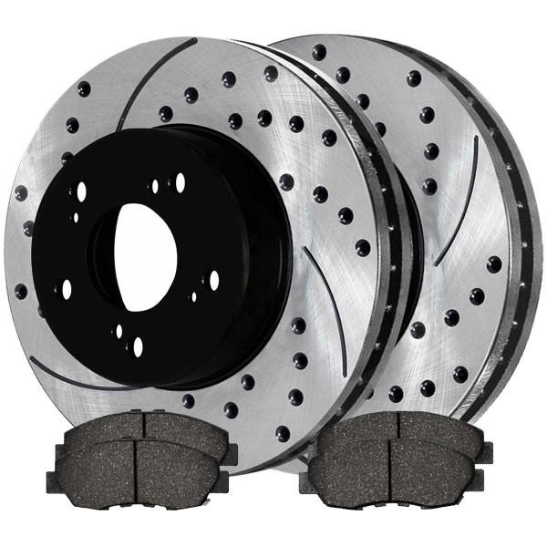 Front Ceramic Brake Pad and Performance Rotor Bundle - Part # SCD465PR41313