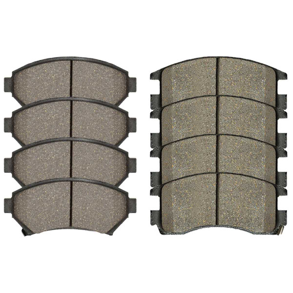 Front and Rear Ceramic Brake Pad Bundle 4 Wheel Disc - Part # SCD699-698