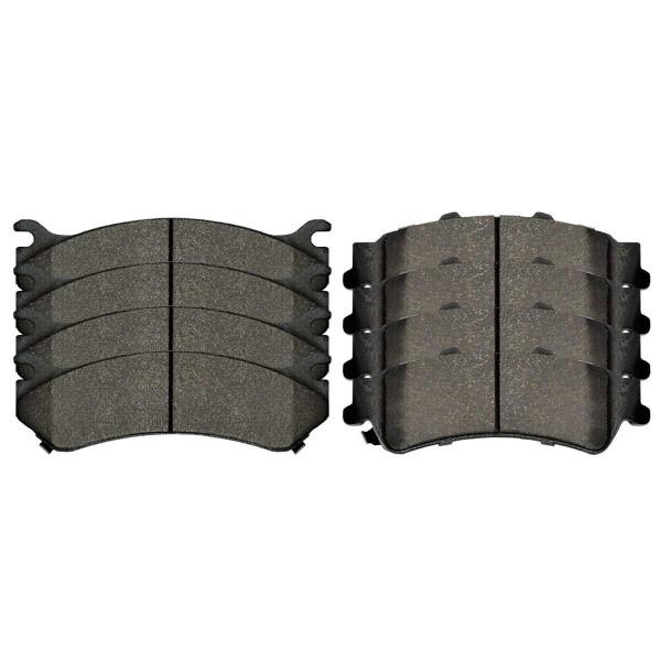Front and Rear Ceramic Brake Pad Bundle 4 Wheel Disc - Part # SCD785-792