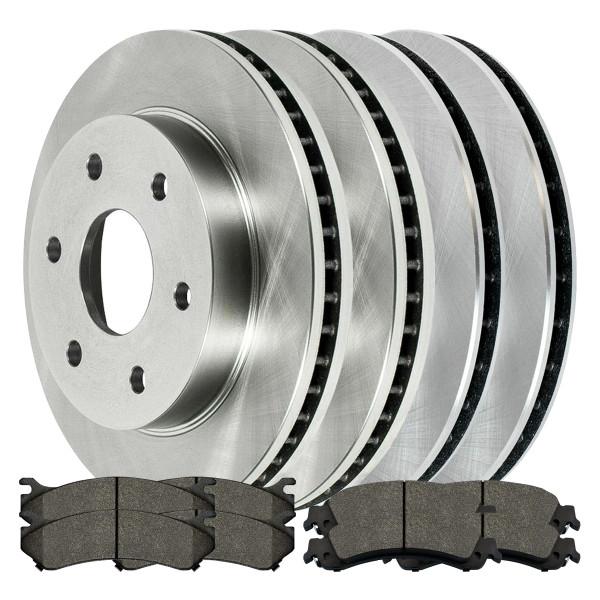 [Front + Rear] Full Set of (4) Brake Rotors and (2) Sets Ceramic Brake Pads - Part # SCD78565086