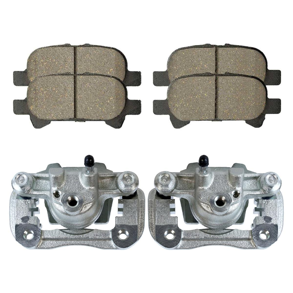 Auto Shack BCPKG00056 Rear Brake Rotors Calipers and Performance Ceramic Pads