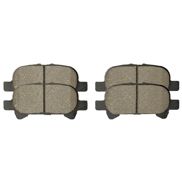 Rear Ceramic Brake Pad Set 4 Wheel Disc - Part # SCD828