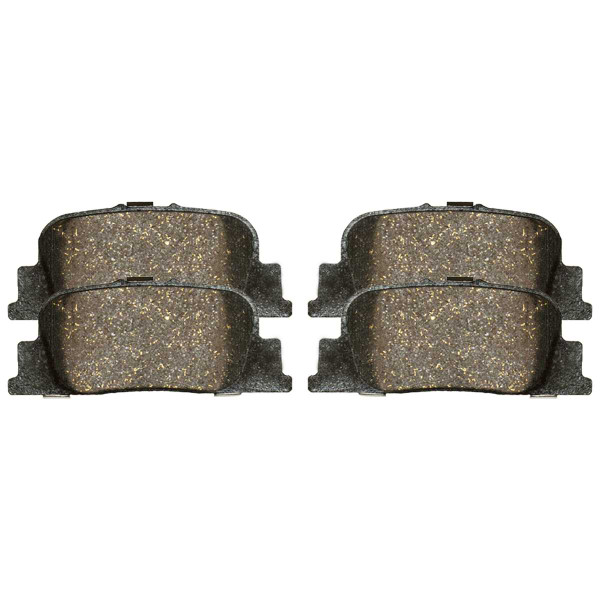 Rear Ceramic Brake Pad Set - Part # SCD835