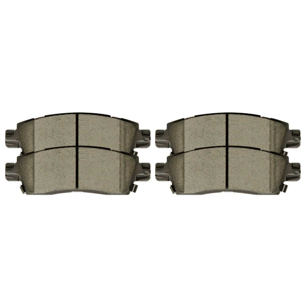 Rear Ceramic Brake Pad Set - Part # SCD883