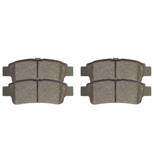 Rear Ceramic Brake Pad Set 4 Wheel Disc - Part # SCD995