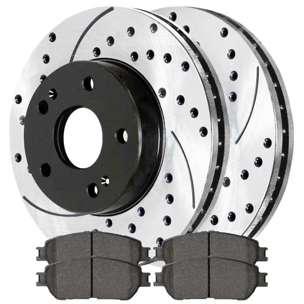 Front Ceramic Brake Pad and Performance Rotor Bundle - Part # SCDPR4131641316906