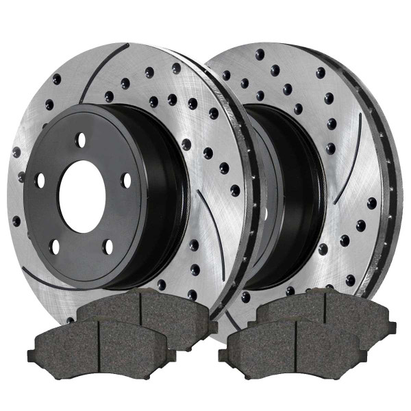 Front Ceramic Brake Pad and Performance Rotor Bundle 11.89 Inch Rotor Diameter - Part # SCDPR63053630531273