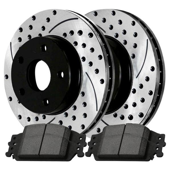 Front Ceramic Brake Pad and Performance Rotor Bundle 10.94 Inch Rotor Diameter - Part # SCDPR6504265042727
