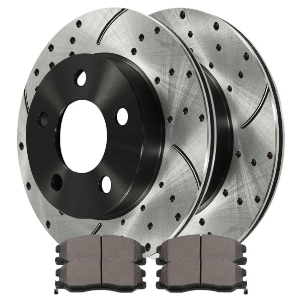 Front Ceramic Brake Pad and Performance Rotor Bundle - Part # SCDPR6508265082913