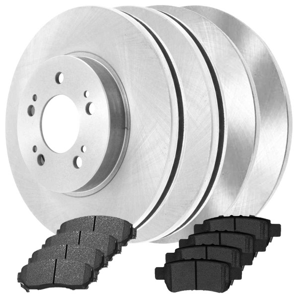 Front and Rear Ceramic Brake Pad and Rotor Bundle - Part # SCDR3109