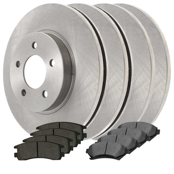Front and Rear Ceramic Brake Pad and Rotor Bundle - Part # SCDR6216
