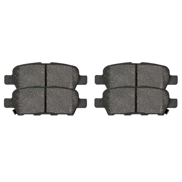 Rear Semi Metallic Brake Pad Set 4 Wheel Disc - Part # SMK1288