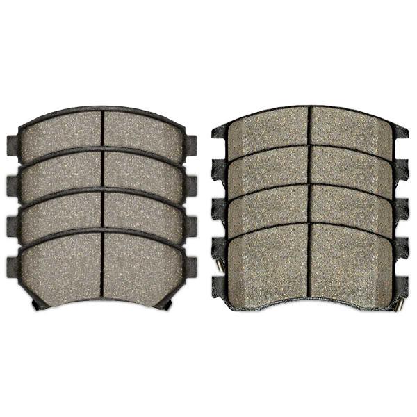 Front and Rear Semi Metallic Brake Pad Bundle 4 Wheel Disc - Part # SMK699-698