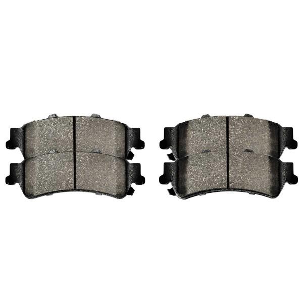 Rear Semi Metallic Brake Pad Set 4 Wheel Disc - Part # SMK792