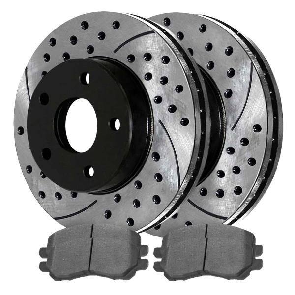 Front Semi Metallic Brake Pad and Performance Rotor Bundle - Part # SMKPR64016401866