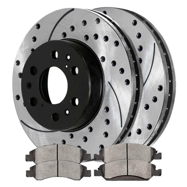 Front Semi Metallic Brake Pad and Performance Rotor Bundle - Part # SMKPR65099650991092