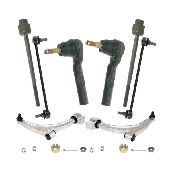 8 Piece Front Suspension Bundle Sway Bar Link Control Arm With Ball Joint Tie Rod End - Part # SUSPKG097