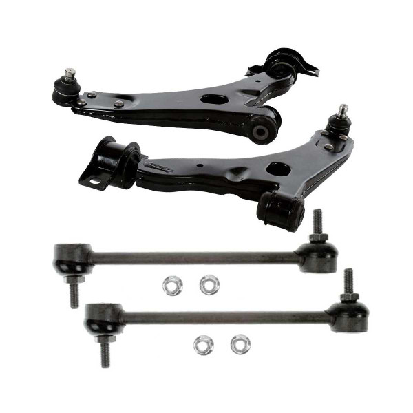 4 Piece Front Sway Bar Link Front Lower Control Arm With Ball Joint Bundle - Part # SUSPKG11020