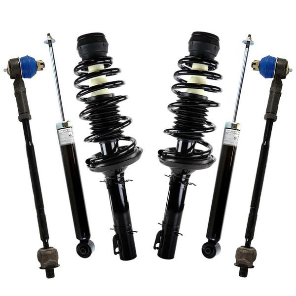 [6Pc Chassis Suspension Kit] 2 Tie Rod Ends 2 Shocks 2 Complete Struts - Part # SUSPKG332