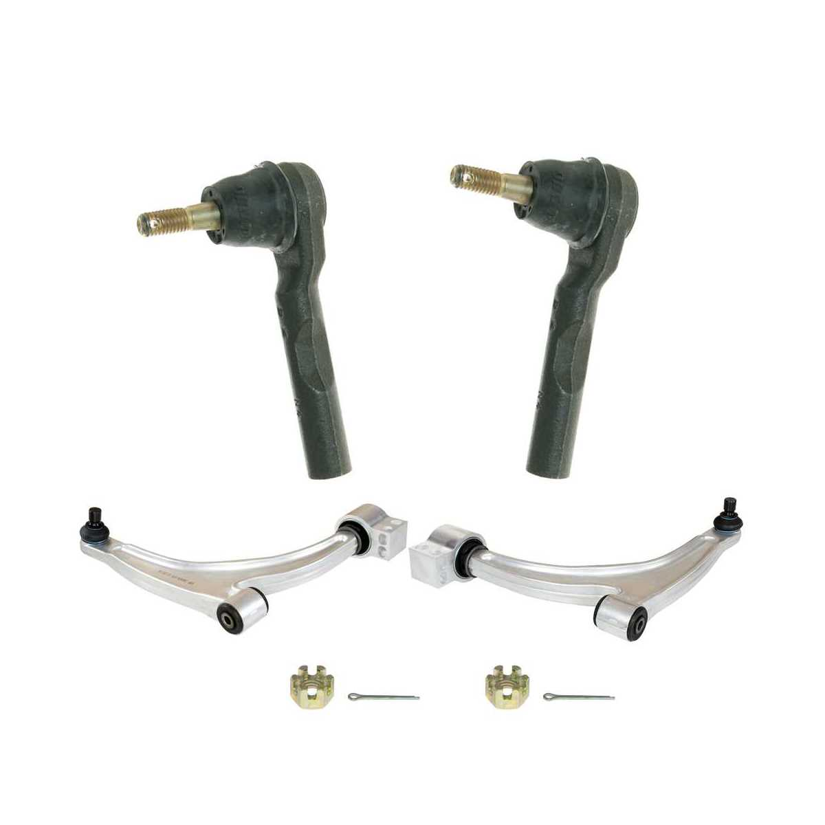Auto Shack SUSPKG2115 Set of 2 Lower Control Arms and 2 Outer Tie Rods