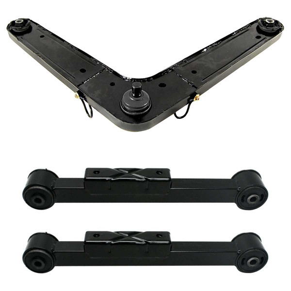 3 Piece Rear Lower Control Arm Rear Upper Control Arm With Ball Joint Bundle - Part # SUSPPK01761